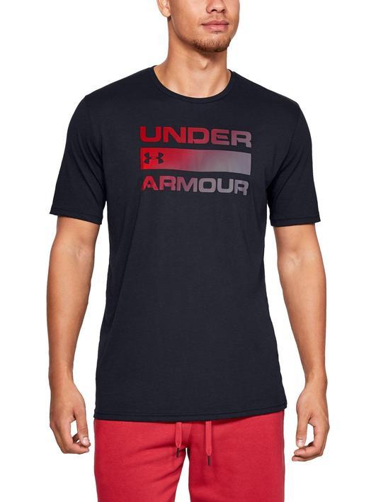 Siyah Erkek UA Team Issue Wordmark Kısa Kollu
