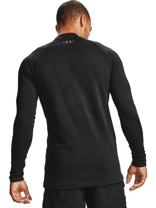 Siyah Erkek UA RUSH™ ColdGear® Seamless Yarım Balıkçı