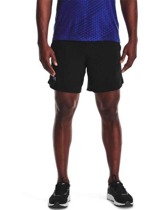 """Siyah Erkek UA Launch 7"""" Koşu Şortu"""