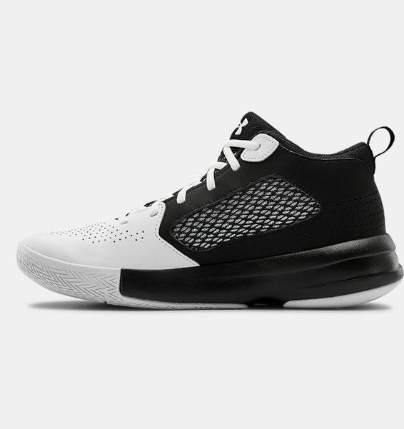 Beyaz Yetişkin UA Lockdown 5 Basketbol Ayakkabısı