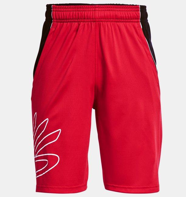 Erkek Çocuk Curry SC Hoops Şort Kırmızı