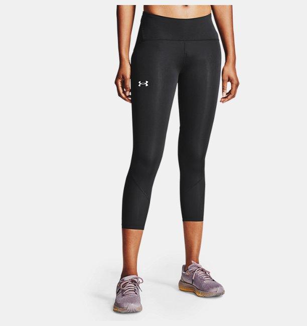 Kadın UA Fly Fast 2.0 HeatGear® Diz Altı Siyah