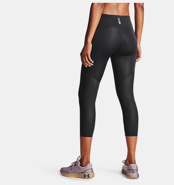 Siyah Kadın UA Fly Fast 2.0 HeatGear® Diz Altı