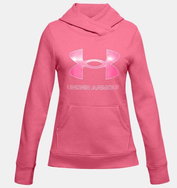 Kız Çocuk UA Rival Fleece Logo Kapüşonlu Üst