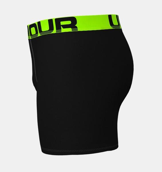 """Siyah Erkek UA Tech™ 6"""" Boxerjock® – 2'li Paket"""