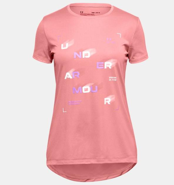 Kız Çocuk UA Tech™ Branded Kısa Kollu