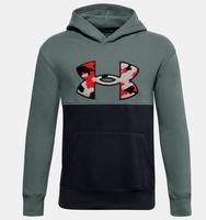 Erkek Çocuk UA Rival Fleece Printed Logo Kapüşonlu Üst