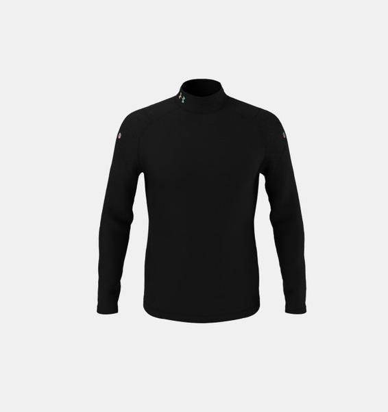 Siyah Erkek UA RUSH™ ColdGear® 2.0 Yarım Balıkçı