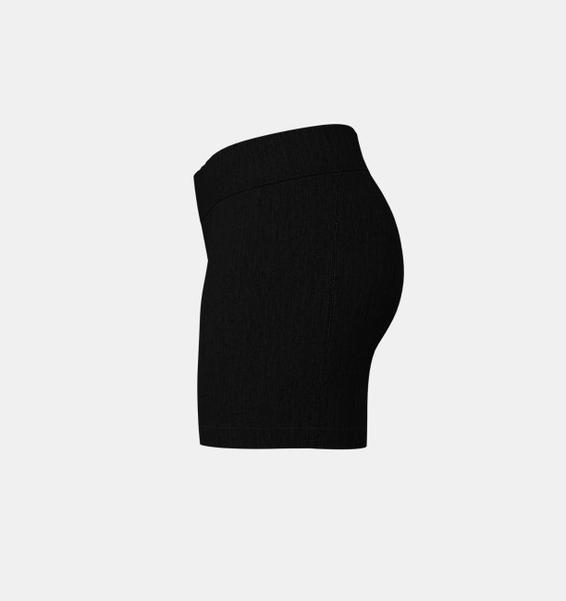Siyah Kadın HeatGear® Armour Mid-Rise Middy Şort