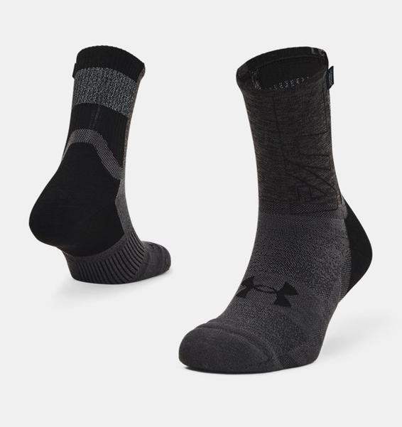 Siyah Unisex UA Armour Dry™ Run Crew Çorap