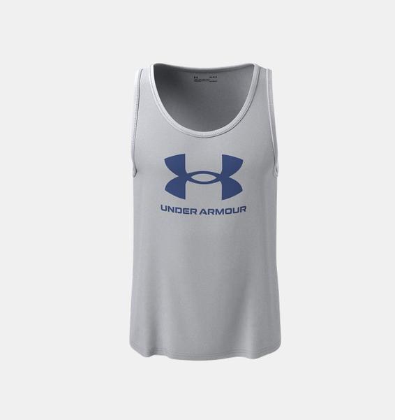 Gri Erkek UA Sportstyle Logo Atlet