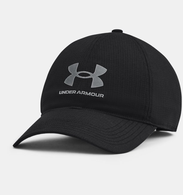 Erkek UA Iso-Chill ArmourVent™ Adjustable Şapka Siyah