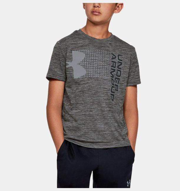 Erkek Çocuk UA Crossfade Tişört Siyah