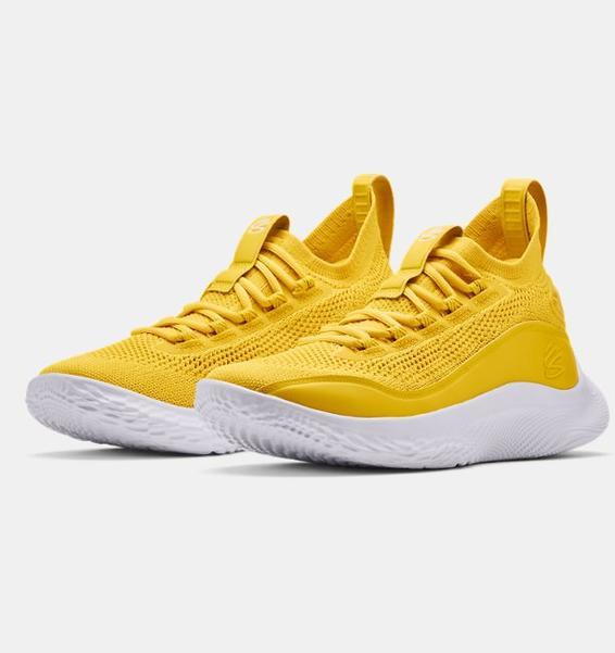 Sarı Curry Flow 8 Basketbol Ayakkabısı