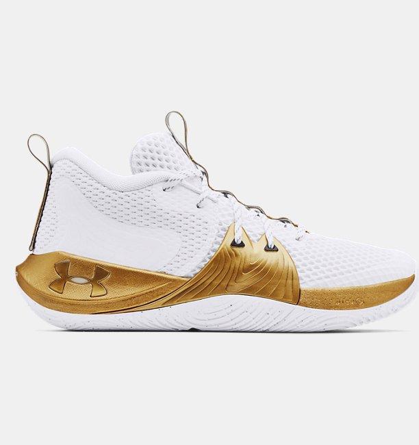 Unisex UA Embiid One Basketbol Ayakkabısı Beyaz