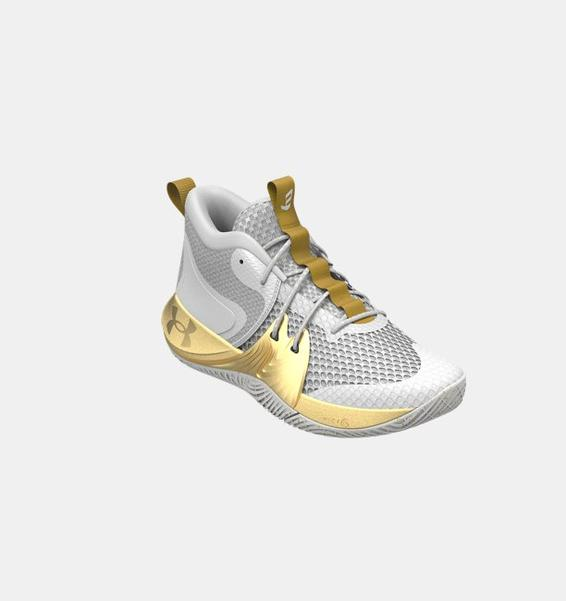 Beyaz Unisex UA Embiid One Basketbol Ayakkabısı