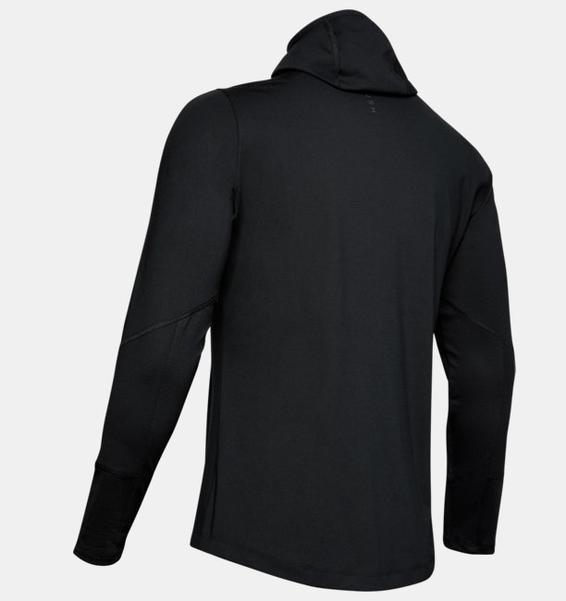 Siyah Erkek UA RUSH™ ColdGear® Kapüşonlu Üst