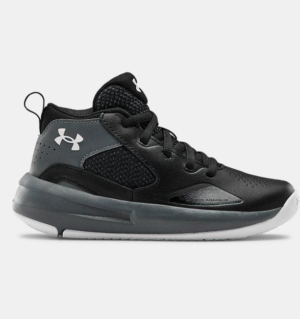 Çocuk UA Lockdown 5 Basketbol Ayakkabısı Siyah
