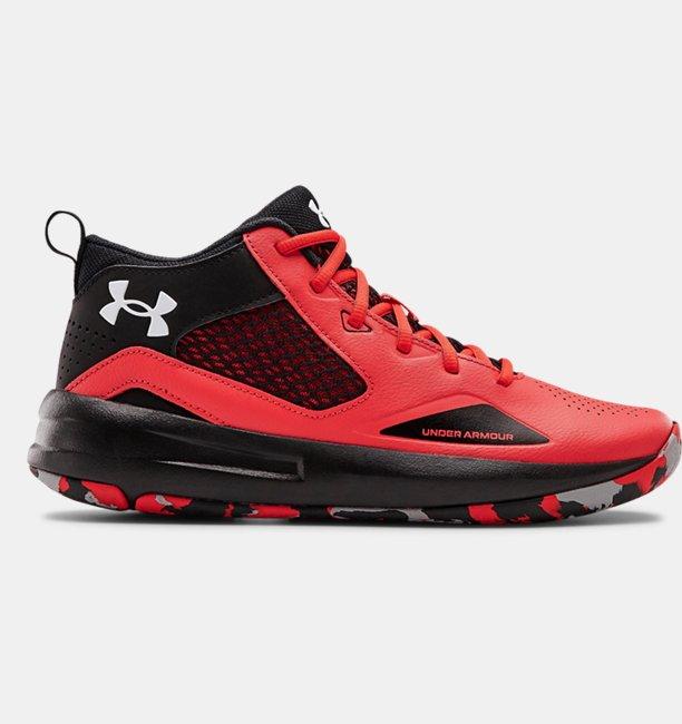 Yetişkin UA Lockdown 5 Basketbol Ayakkabısı Kırmızı