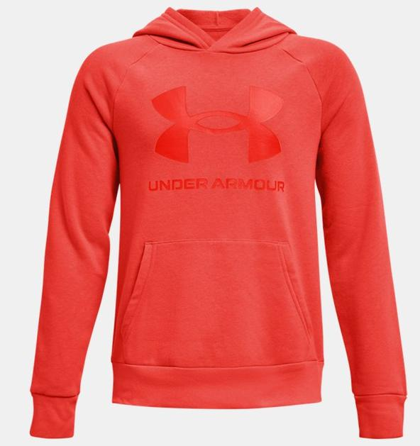 Erkek Çocuk UA Rival Fleece Big Logo Kapüşonlu Üst