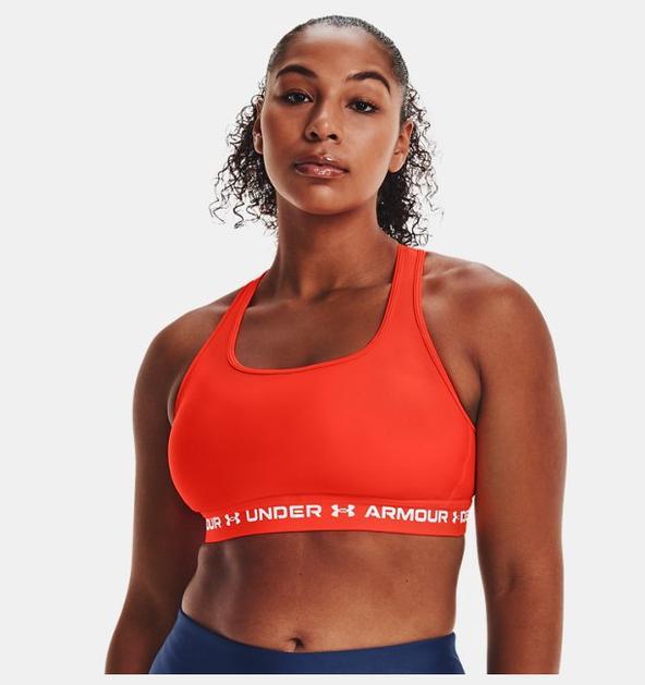 Kadın Armour® Mid Çapraz Sırtlı Spor Sütyeni