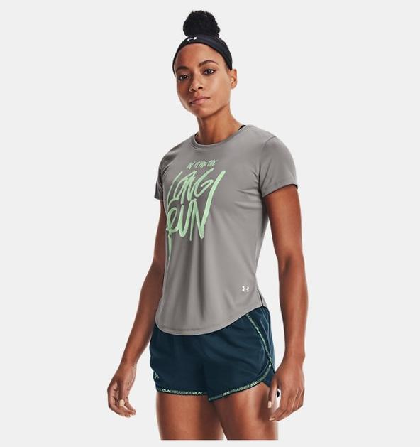 Kadın UA Long Run Graphic Kısa Kollu