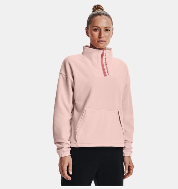 Kadın UA RUSH™ Fleece ½ Fermuarlı Kapüşonlu Üst