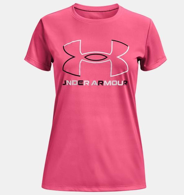 Kız Çocuk UA Tech™ Big Logo Kısa Kollu