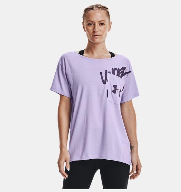 Kadın UA Oversized Wordmark Graphic Tişört