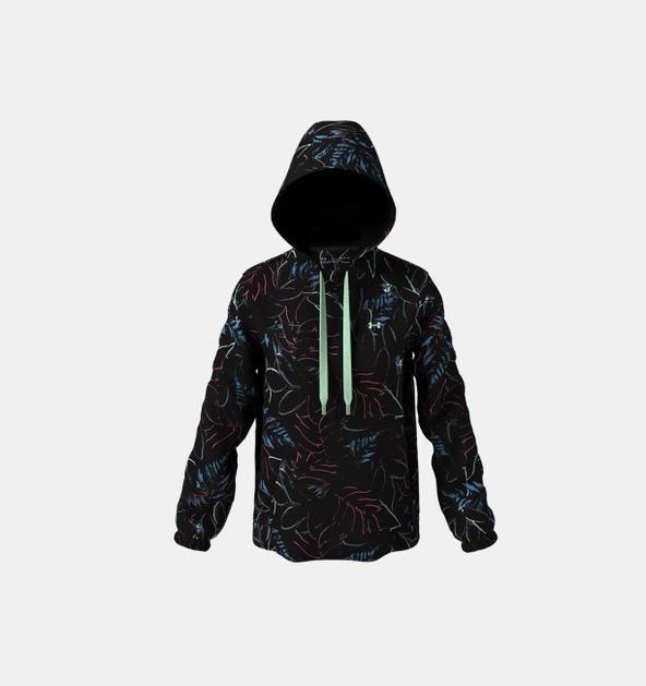 Kadın Armour Fleece® Printed Kapüşonlu Üst