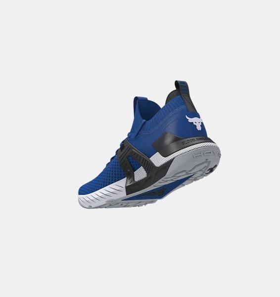 Mavi Erkek UA Project Rock 4 Antrenman Ayakkabısı