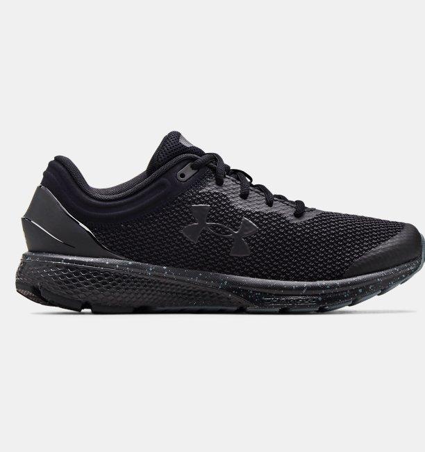 Erkek UA Charged Escape 3 Big Logo Koşu Ayakkabısı Siyah