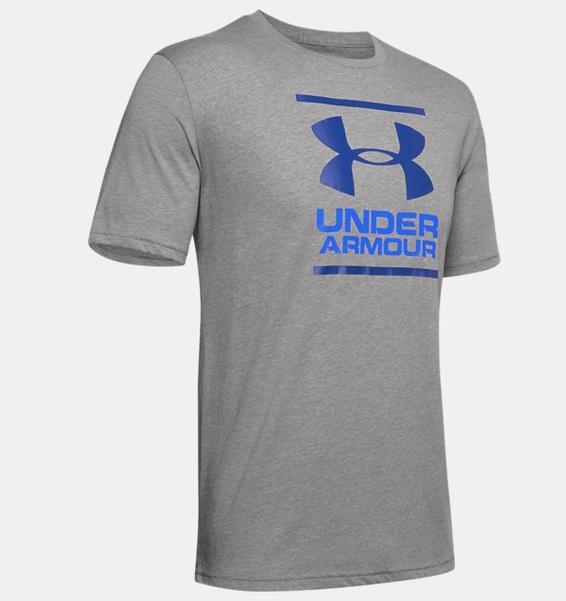 Gri Erkek UA GL Foundation Kısa Kollu Tişört