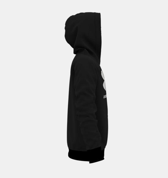 Siyah Erkek Çocuk UA Rival Fleece Big Logo Kapüşonlu Üst