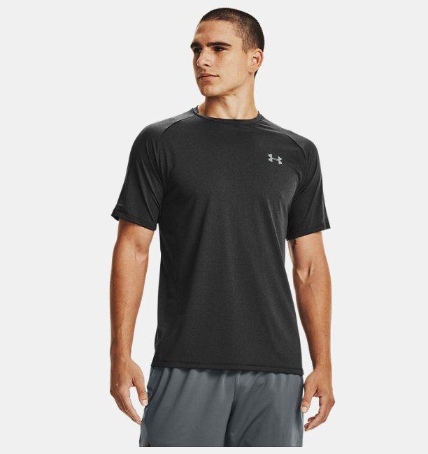 Erkek UA Tech™ 2.0 Kısa Kollu Tişört Siyah