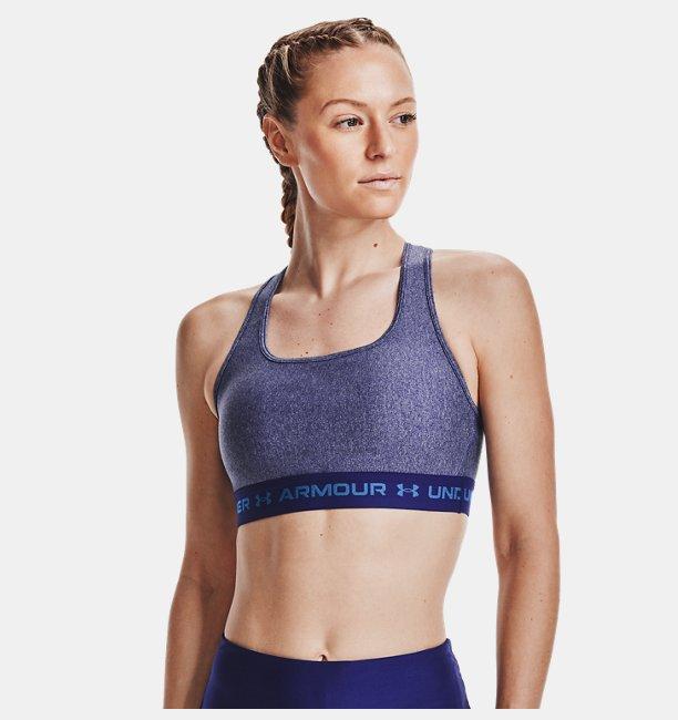 Kadın Armour® Mid Crossback Heather Spor Sütyeni Mavi