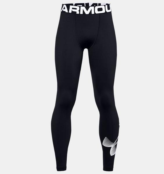 Siyah Erkek Çocuk ColdGear® Armour Tayt