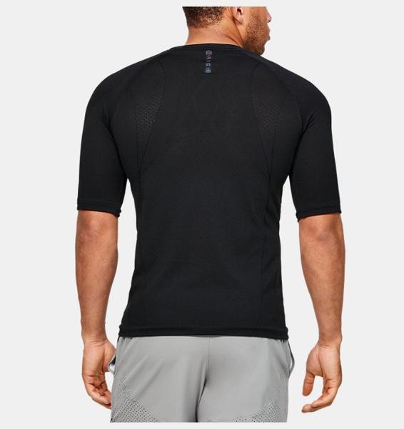 Siyah Erkek UA RUSH™ Seamless Tayt