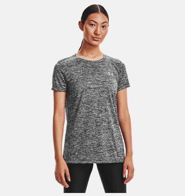 Kadın UA Tech™ Twist Tişört Siyah