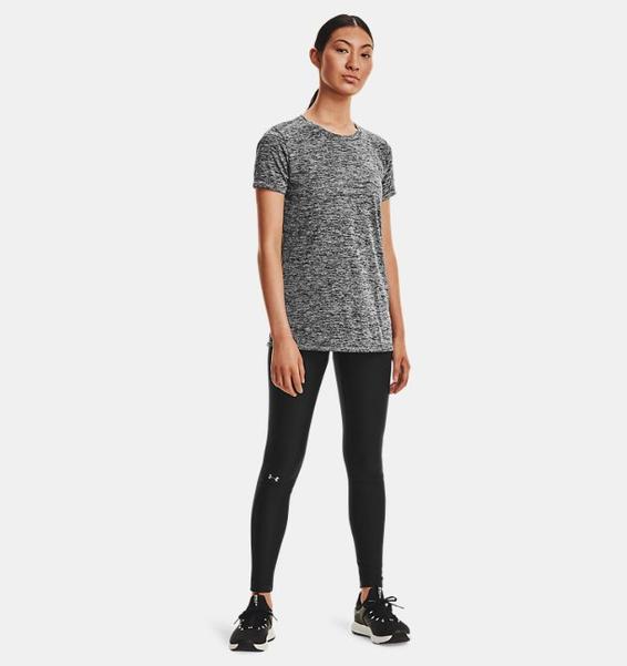 Siyah Kadın UA Tech™ Twist Tişört