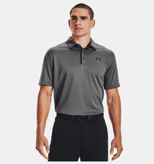 Erkek UA Tech Polo Tişört Gri
