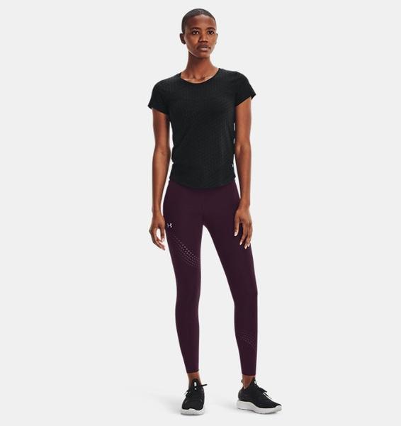 Siyah Kadın UA Streaker Runclipse Kısa Kollu