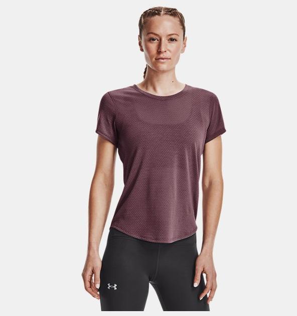 Kadın UA Streaker Run Kısa Kollu